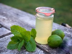 Mint Lime Syrup — Beauty and the Feast Healthy Diet Recipes, Detox Recipes, Clean Eating Recipes, Mango Float, Milk Jelly, Home Canning, Gin And Tonic, Kraut, Coconut Milk