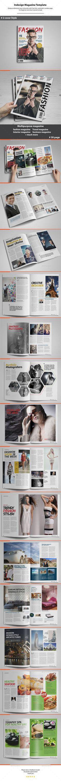 Indesign Magazine Template #design #journal Download: http://graphicriver.net/item/indesign-magazine-template/11421618?ref=ksioks