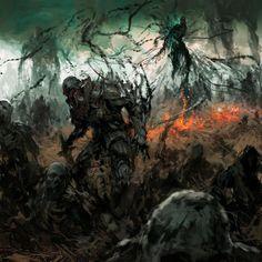 Shitpack by Artem Demura on ArtStation Fantasy Warrior, Fantasy Rpg, Medieval Fantasy, Dark Fantasy Art, Fantasy World, Arte Horror, Horror Art, Epic Backgrounds, Fantasy Island