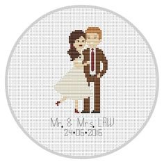 These make wonderful gifts for weddings, christmas, birthdays, etc!  * This portrait listing is for a custom cross stitched PATTERN * Price varies on number of characters.  *** If you want completed cross stitch portrait, please contact me!***   Upon ordering: - Select the number of figures you would like to include (this includes pets), and text color. Figures can be of any age. If you have more than 2 figures, please contact me ahead of time so we can discuss your order. As this is a…