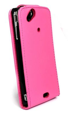 (Pink) Flip Up Leather Case for Sony Ericsson Xperia Arc S to Protect your cell phone in this very stylish flip cover. #sonymobilephones