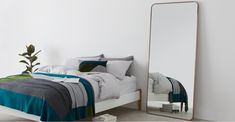 Alana Extra Large Leaning Mirror 80 x 180 cm, Brushed Brass Room Ideas Bedroom, Home Bedroom, Master Bedroom, Large Leaning Mirror, Leaner Mirror, The Home Edit, Furnished Apartment, Buying A New Home, Apartment Furniture