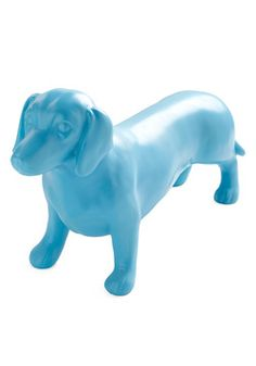 Dachshund statue in blue