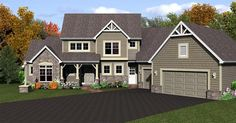 Elevation of Cape Cod House Plan 54081