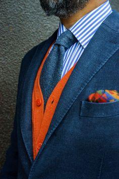 Sprezzatura-Eleganza | styleforumnet: @gezzasmenswear rocking a bold...