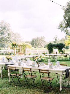 Sophisticated Yellow & Pale Blue Wedding Inspiration via TheELD.com | Hunter Ryan Photo