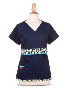 Uniform Advantage offers a vast assortment of medical scrubs and uniforms that are comparable to both Lydia's & Tafford uniforms. Navy Scrubs, Uniform Advantage, Medical Scrubs, Mary Engelbreit, Scrub Tops, Mixing Prints, V Neck, Shirt Dress, Shirts