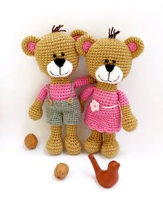 horgolt maci pár / crochet teddy bear couple https://www.etsy.com/shop/spikycake