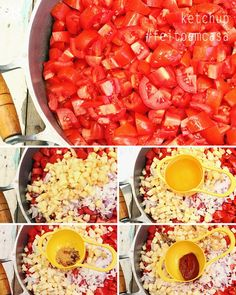 passo a passo 1 - ketchup feito em casa (homemade ketchup step by step)