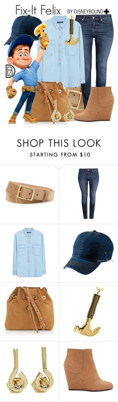 """""""Fix-It Felix+"""" by leslieakay ❤ liked on Polyvore featuring rag & bone, H&M, Violeta by Mango, Atlantis Caps, Vanessa Bruno, Marc by Marc Jacobs, Forever 21, disney, disneybound and plussize"""