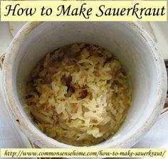How to Make Sauerkraut @ Common Sense Homesteading