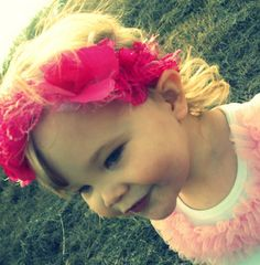 Pink Frilly Headband from Inspired by Felicity