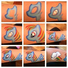 Step by step #facepaint pony unicorn by Jennifer Sweeney