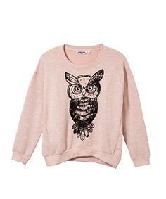 Pink Owl Sweater March 2017