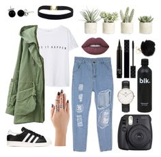 """""""Make your day"""" by weirdobby on Polyvore featuring moda, MANGO, adidas Originals, Daniel Wellington, Fuji, Allstate Floral, Gucci, Lime Crime e Bling Jewelry"""