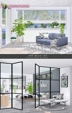 Lyne Build Set - Addons Matching blinds for the Lyne half and three quarter windows, matching window sills (shelves) and radiators for the half windows and Ikea style glass panel. Sims 4 Windows, Sims 4 Cc Furniture Living Rooms, Muebles Sims 4 Cc, Sims 4 Bedroom, Sims 4 Clutter, Sims 4 House Design, Sims 4 Game Mods, Sims 4 Collections, Casas The Sims 4