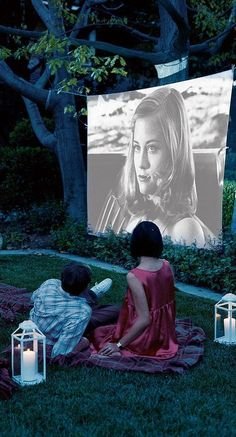 We love the idea of projecting a movie under the stars.