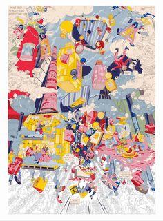 Original Architecture Drawing by Hank Liu Bartlett School Of Architecture, Architecture Collage, Architecture Drawings, Architecture Diagrams, Architecture Portfolio, Collage Drawing, Comic Drawing, Drawing Art, Illustration Story