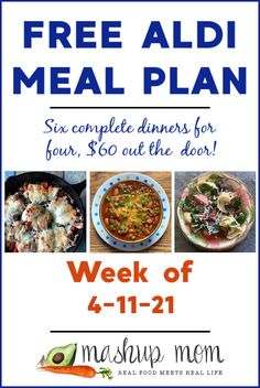 Wednesday keeps rolling around, so weekly free ALDI meal plans are sure to follow! Here's your latest -- as always, six complete dinners for four, $60 out the door. Save time & money with your free ALDI meal plan for the week of 4/11/21, and enjoy everything from a hearty salsa verde chili to a Caprese chicken skillet this week (and so much more). Frugal Family, Family Meals, Family Recipes, Aldi Meal Plan, Meal Prep, Meal Planning Board, Pork Schnitzel, Real Food Recipes, Healthy Recipes