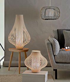 john lewis Harmony ribbon pendant and table lamps - Natural large