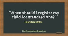 "Its that time of the year again when parents start asking this question. ""When should I register my child for standard one?"" The fol. School Holiday Programs, Enrichment Programs, Important Dates, School Holidays, My Children, Parents, This Or That Questions, Products, My Boys"