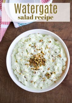 Watergate salad is a retro dessert salad that's still popular today! This easy, no-bake dessert recipe takes just 5 ingredients