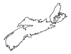 Nova Scotia pattern. Use the printable outline for crafts, creating stencils, scrapbooking, and more. Free PDF template to download and print at http://patternuniverse.com/download/nova-scotia-pattern/