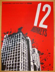 """12 Monkeys"" - Silkscreen Movie Poster by Lure Design"
