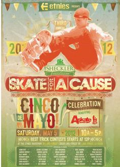 """Ryan Sheckler & the A.Skate Foundation's """"Skate for a Cause."""" We were honored to participate! www.caseyscupcake.com #caseyscupcakes"""