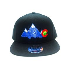 This comfortable Men s Cool Otto Black Snapback Hat Colorado Peaks C design  embroidered on front 794390ddeb3e