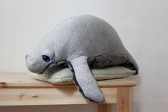 Manatee O Sea Cow O Plush Toy  O Stuffed Animal  by BigStuffed