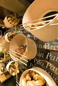 Great ways to display your products! cibus by costa group Great ways to display your products! cibus by costa group Bakery Shop Design, Cafe Design, Store Design, Design Design, Bakery Interior, Retail Interior, Bar Restaurant, Restaurant Design, Bread Display