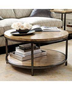 Durham Round Coffee Table - Ballard Designs MT132 STE