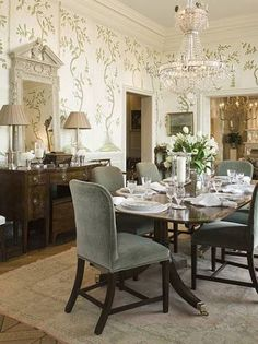 45 Elegant, Classy And Feminine Perfectly Stylish Ideas For Dining Room  Design | Gracie Wallpaper, Chinoiserie And Wallpaper