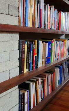 DIY Home Decor reference to reach one elegant styling, house decor pattern number 7338680581 Diy Bookshelf Wall, Cheap Bookshelves, Bookshelf Plans, Bookcases, Book Shelves, Diy Rustic Decor, Diy Home Decor, Ana White, Cinder Block Shelves