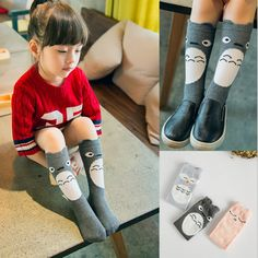 Cute Girls Socks Animal Print Cotton Kids Socks Cartoon Knee High Long Socks Totoro Chaussette Calcetines♦️ B E S T Online Marketplace - SaleVenue ♦️👉🏿 http://www.salevenue.co.uk/products/cute-girls-socks-animal-print-cotton-kids-socks-cartoon-knee-high-long-socks-totoro-chaussette-calcetines/ US $2.08
