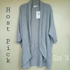 Cocoon Shrug {HP ❤ 12/28} Light Gray. 70% Acrylic.  30% nylon. Soft. True color in 3rd,photo. Jaclyn Smith Sweaters Shrugs & Ponchos