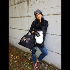 NEW outfit ideas #hat #bag #scarf #accessories #gloves #grey #blackandwhite #outfitoftheday #styleinspiration #indacostyle #winteroutfit #newcollection #aw1718 #indaco #fashion #bojuà