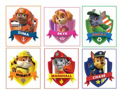 6 Paw Patrol Party Stickers Favors Gifts by Stickertime101 on Etsy, $2.98