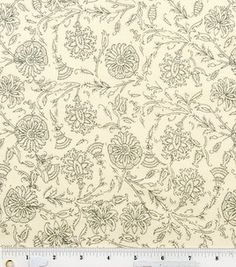 Quilter's Showcase Fabric- Sketch Floral Cream & Gray : keepsake calico fabric : quilting fabric & kits : fabric :  Shop | Joann.com