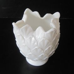 Vintage Milk Glass Tulip Vase by Imperial Glass by Hallingtons