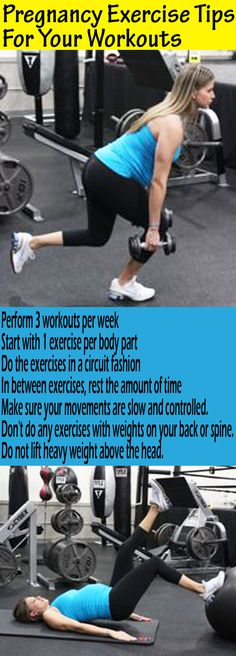 Pregnancy workout tips if you want to exercise safely and not gain a ton of weight during pregnancy. Great workout to try in here and a pregnancy diet plan. http://michellemariefit.publishpath.com/prenatal-exercise-tips-exercises-stretches