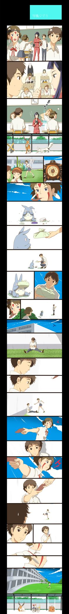 Ghibli Characters at School
