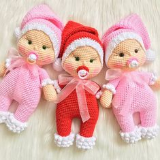 SANTA CLAUSE BABY Crochet Toy / Amigurumi Doll, Gift for Newborn, Gift for Baby, Gift for Sister, Ba