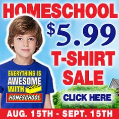 Huge Annual Homeschool T-Shirt Sale! These make the perfect Christmas gift. We…