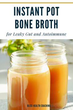 Are you working on repairing your gut or reducing autoimmune issues? This Instant Pot Bone Broth is so easy to make with beef or chicken bones. Bone broth also freezes well for future recipes. Lose of Fat Every 72 Hours! Learn the Fast Weight Loss Low Carb Recipes, Real Food Recipes, Healthy Recipes, Free Recipes, Quinoa, Chicken Bones, Healthy Nutrition, Healthy Food, Healthy Weight
