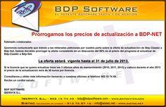 PCMIRA-ECRPOS: Actualización BDP-Classic a BDP-NET. Como ya os indicamos anteriormente, desde el 1 de Enero de este año ya no se sirven nuevas licencias de BDP-Classic y a partir del 1 de Enero del año que viene se dejará de prestar servicio a las instalaciones con licencia de BDP-Classic. BDP tiene en promoción la actualización de licencias de BDP-Classic a BDP-NET al 50% de su precio de coste.    Debido al éxito de esta promoción, se ha prorrogado el plazo hasta el 31 de Julio de este año.
