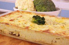 Lasanha gratinada de legumes Essa receita é sensacional.