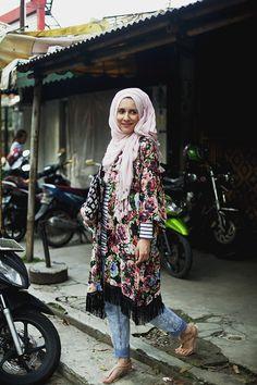 Dina Tokio and mix of patterns. #hijab