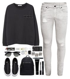 """Right mood."" by amy-gray0 ❤ liked on Polyvore featuring H&M, MANGO, Vans, Bobbi Brown Cosmetics, Christian Dior, Ray-Ban, DANNIJO, Jack Wills, Essie and Jo Malone"